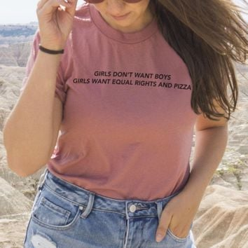 Equal Rights and Pizza Tee
