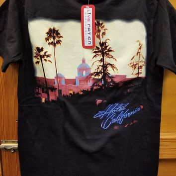 New The EAGLES HOTEL CALIFORNIA  LICENSED CONCERT BAND  T SHIRT