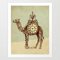 Desert Time Art Print by Eric Fan