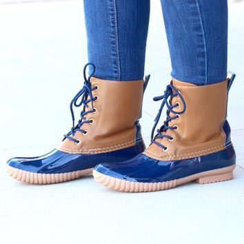 Rosetta Classic Lined Duck Boots {Navy}