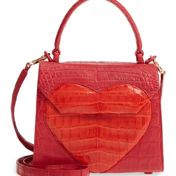 Nancy Gonzalez Heart Lily Genuine Crocodile Crossbody Bag | Nordstrom