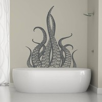 ik1226 Wall Decal Sticker octopus tentacles bathroom