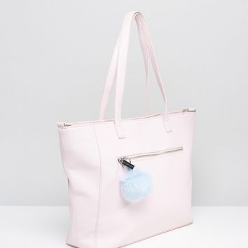 Skinnydip Exclusive Winged Tote Bag in Pink With Pom at asos.com