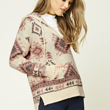Tribal Print Woolen Sweater