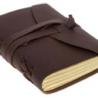 "INDIARY FIRST Pocket Journal Diary Luxury Buffalo Leather 100% Handcrafted Cotton Paper 5x4"" - A6 - Brown"