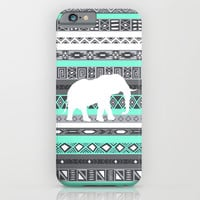 Tiffany Aztec White Elephant Pattern Design iPhone & iPod Case by RexLambo