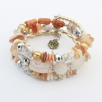 Exotic Multi-layer Jewerly Color Stone Bracelet ~Adjustable  5