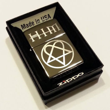 HIM Band Heartagram Classic Chrome Zippo Lighter