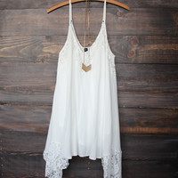 x shophearts - Flower child flowy dress | ivory