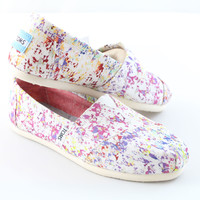 Toms Womens Print Splatter Classic Canvas Espadrilles - 001001b13 Vprnt - Shoes - Womens - by Toms - New For Summer 2013