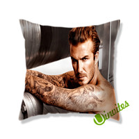 David Beckham Tattoo Square Pillow Cover