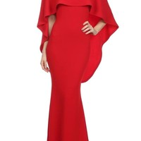 ZAZA BOUTIQUE80 — Cape Evening Dress
