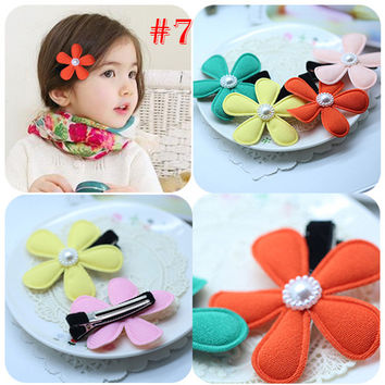 2 PIECES LOT Kids Girls Headband Crown Rabbit Hair Wear Lace Bowknot Flower Hair Clips NW