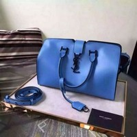 PEAP YSL SAINT LAURENT A232098 BLUE BAG HANDBAG