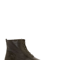 Officine Creative Green Worn Leather Pomice Boots