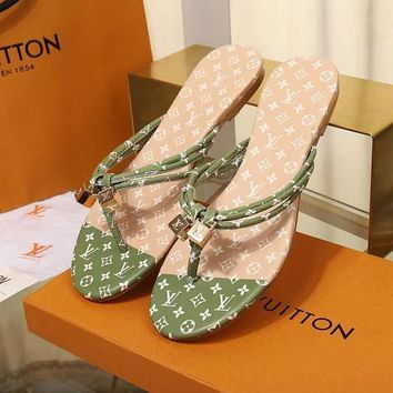 LouisVuiton LV Double buckle with logo Fashion casual sandals-6