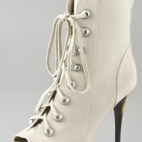 Jean-Michel Cazabat Larita Open Toe Lace Up Booties
