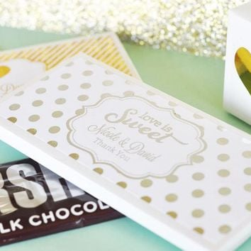 Personalized Metallic Foil Candy Wrapper Covers - Wedding
