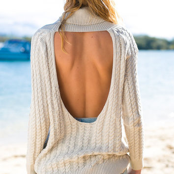 FASHION BACKLESS HOT SWEATER
