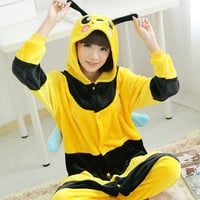 Pokemon Pikachu Bumble Bee Onesuit Adult Pajama Sleepwear Kawaii