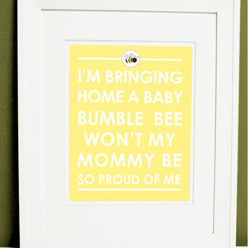 8 x 10 Bumble Bee Nursery print by polkaprints on Etsy