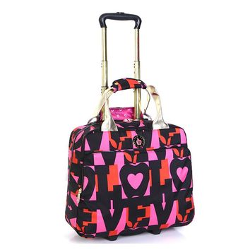 Double Dutch Club Luggage, Love Rolling Business Case (Pink)