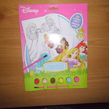 DISNEY'S AND MARVEL'S PAINT SET; COLORING PAGES,PAINTS,PAINT BRUSH;BRAND NEW