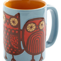 Owl Ready to Go Mug in Blue | Mod Retro Vintage Kitchen | ModCloth.com