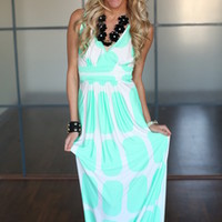 Dying For You Maxi Dress Mint