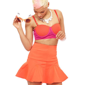 IT GIRLS FAVORITE SKATER SKIRT - ORANGE