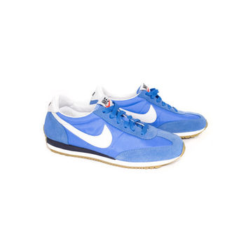 NIKE oceania retro blue suede sneakers - womens athletic shoes - 307165-400 - nikes size 39 eur - 5.5 uk - 8 us