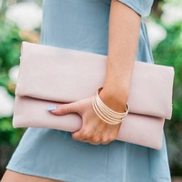 Socialite Clutch Handbag in Petal