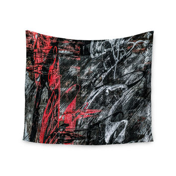 "Bruce Stanfield ""Areus"" Red Abstract Wall Tapestry"