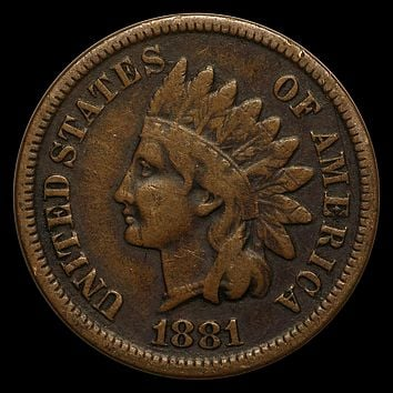 1881 Indian Head Cent Fine