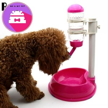 RUNBAZEF Automatic  Water Dispenser Stand Feeder  Bottle Plastic Dog Cat Drinking Fountain Food Dish Pet
