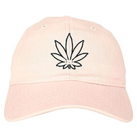 FASHIONISGREAT Weed Face Marijuana Dabs Womens 6 Panel Pink Cap