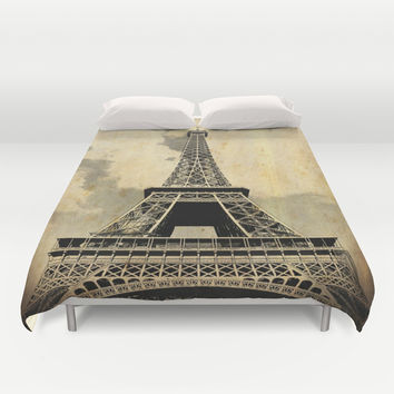 Torre Eiffel Duvet Cover by Mayrarosito