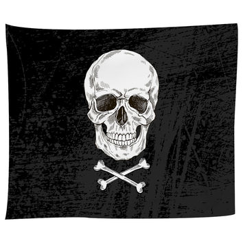 Black Beard's Bones Tapestry