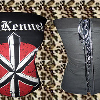Punk Rock Dead Kennedys Corset Top. Size XS, S, M, L, XL