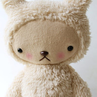 Teddy Bear Plushie Kawaii Style in Cream Cuddle by bijoukitty