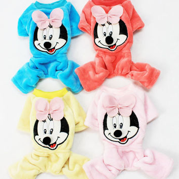 Cute Puppy Clothing Mickey Mouse Sweat Shirt Sweaters for Dog's Clothing-Size S