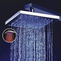 LightInTheBox 8 Inch Single Function Temperature Sensitive Rainfall LED Shower Head, Chrome - Amazon.com