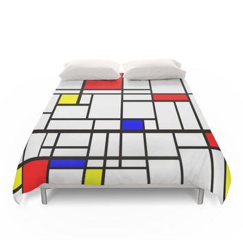 Society6 Mondrian Inspired Duvet Cover