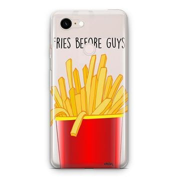 Fries Before Guys Google Pixel 3 Clear Case