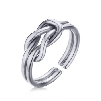 Stainless Steel Sailor Knot Rings Love Knot Jewelry - Silver, Gold