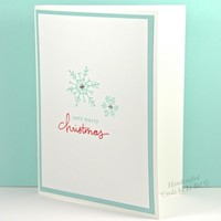 Crisp Blue Snowflakes On This Very Merry Christmas Handmade Card