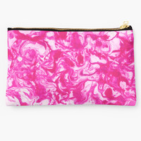 'Pink marble texture.' Studio Pouch by kakapostudio
