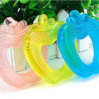 Newborn Apple Infant Training Soft Teething/Baby Toddler Toys Teether GHI HU