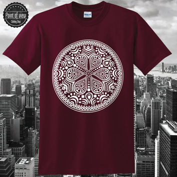 Zen Mandala T-Shirt  hand drawn geometric pattern center point Trance Symbol tumblr pinterest instagram Custom Shirt brand new Blogger