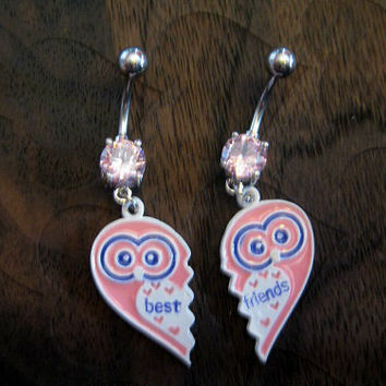 Best Friends Owl Belly Button Rings -- Owl